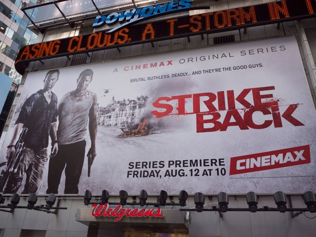 Strike Back as seen in Times Square